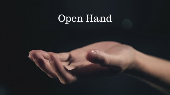 Fist and open hand
